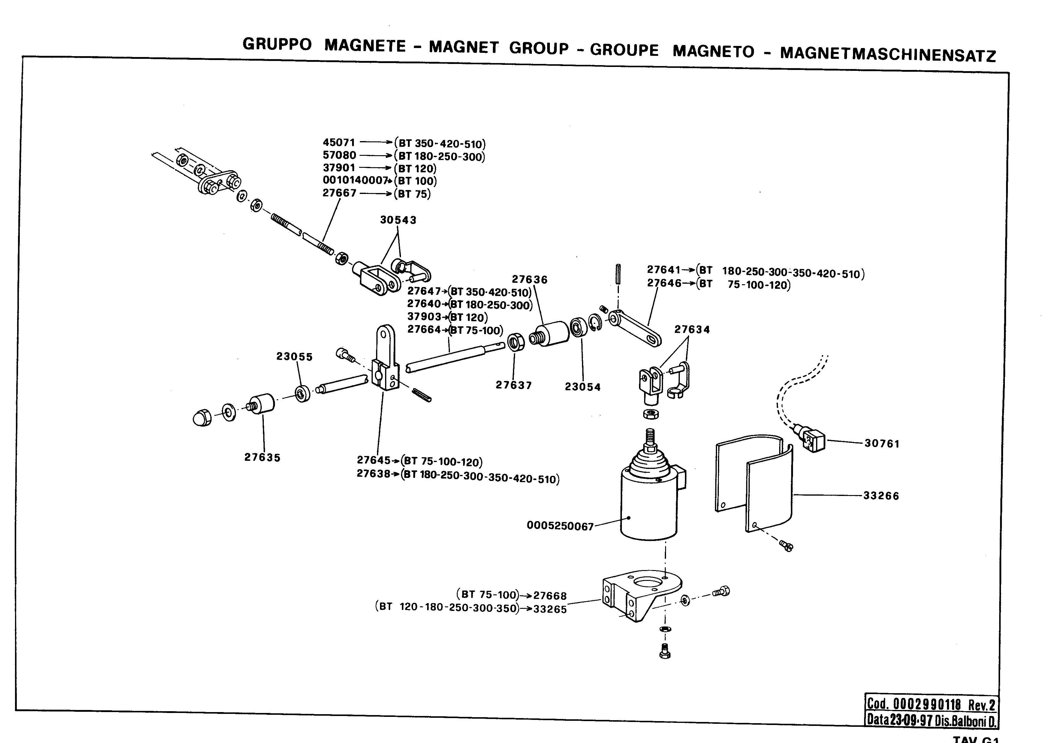 Электромагнитный привод узла распыливания G1 tavG1 2 19970923