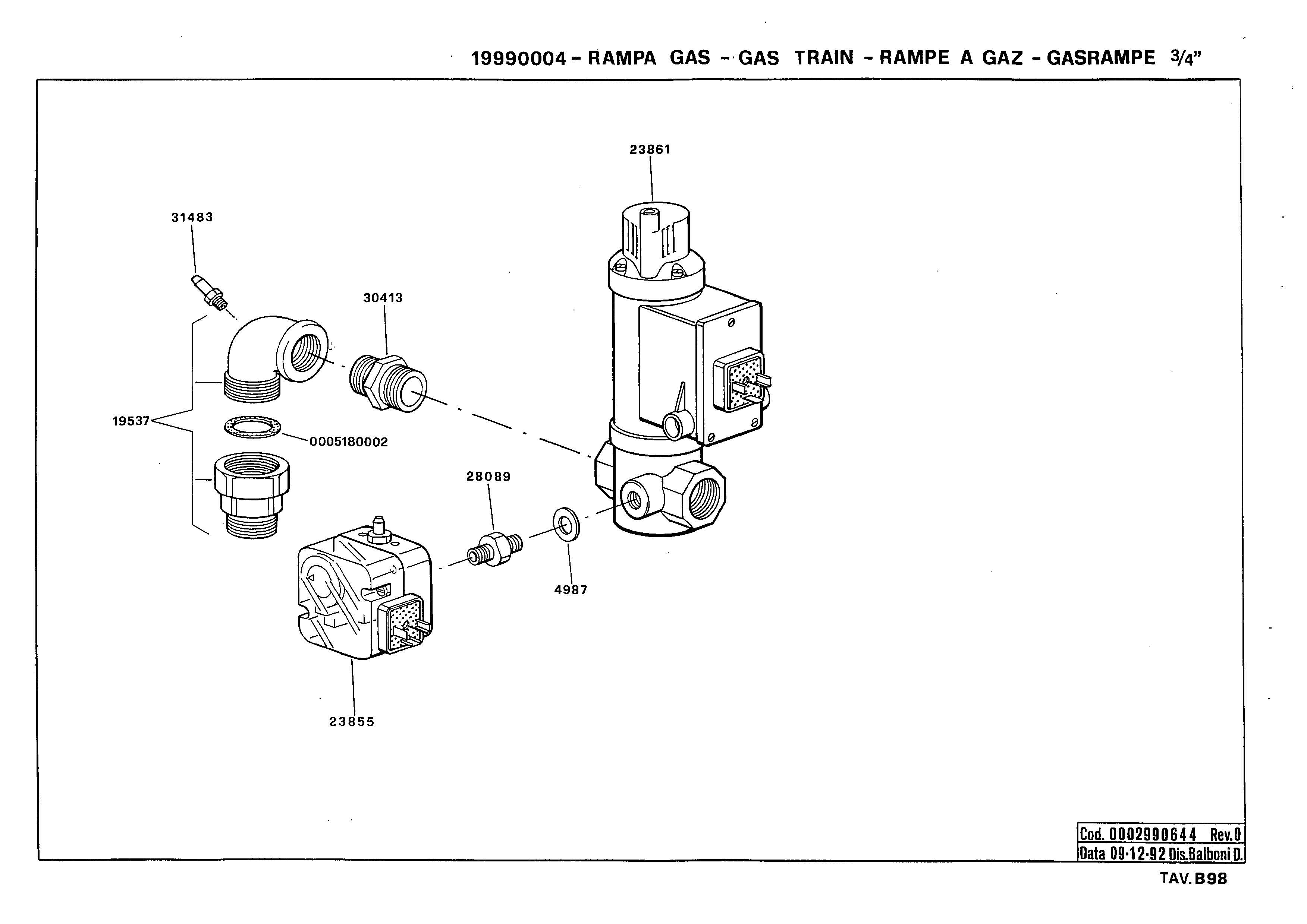 Газовая рампа B98 19990004 0 19921209