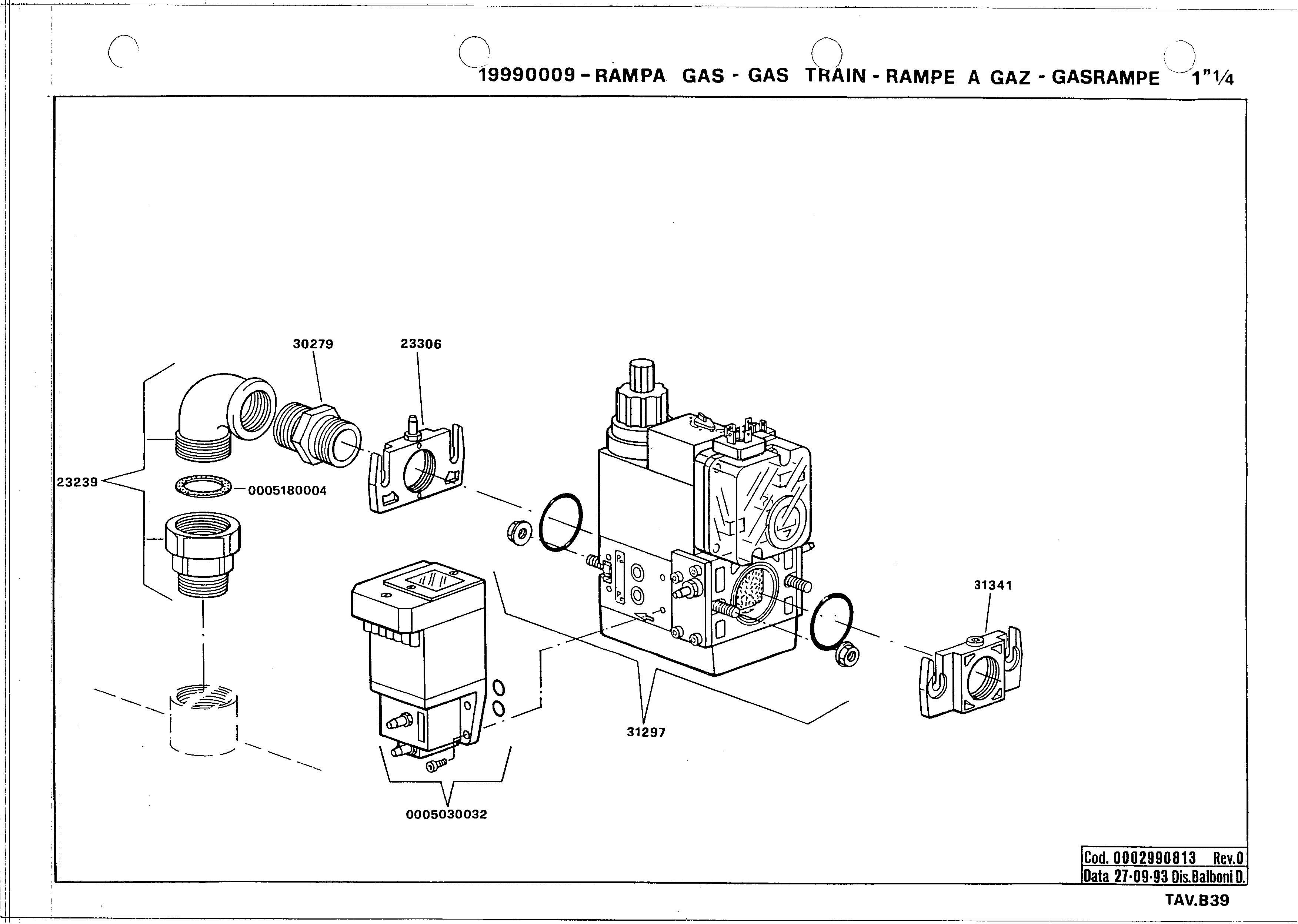 Газовая рампа B39 19990009 0 19930927