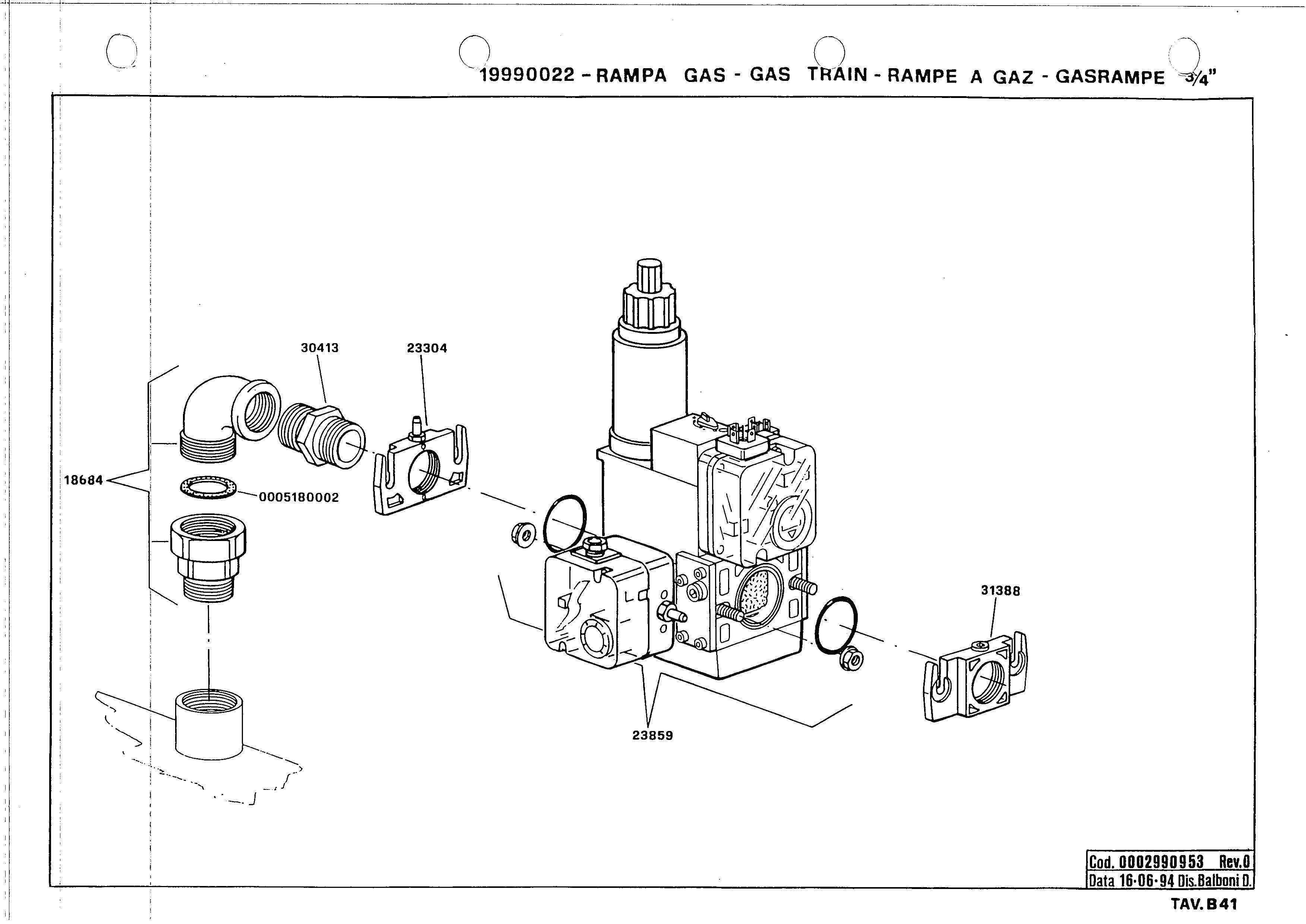 Газовая рампа B41 19990022 0 19940616