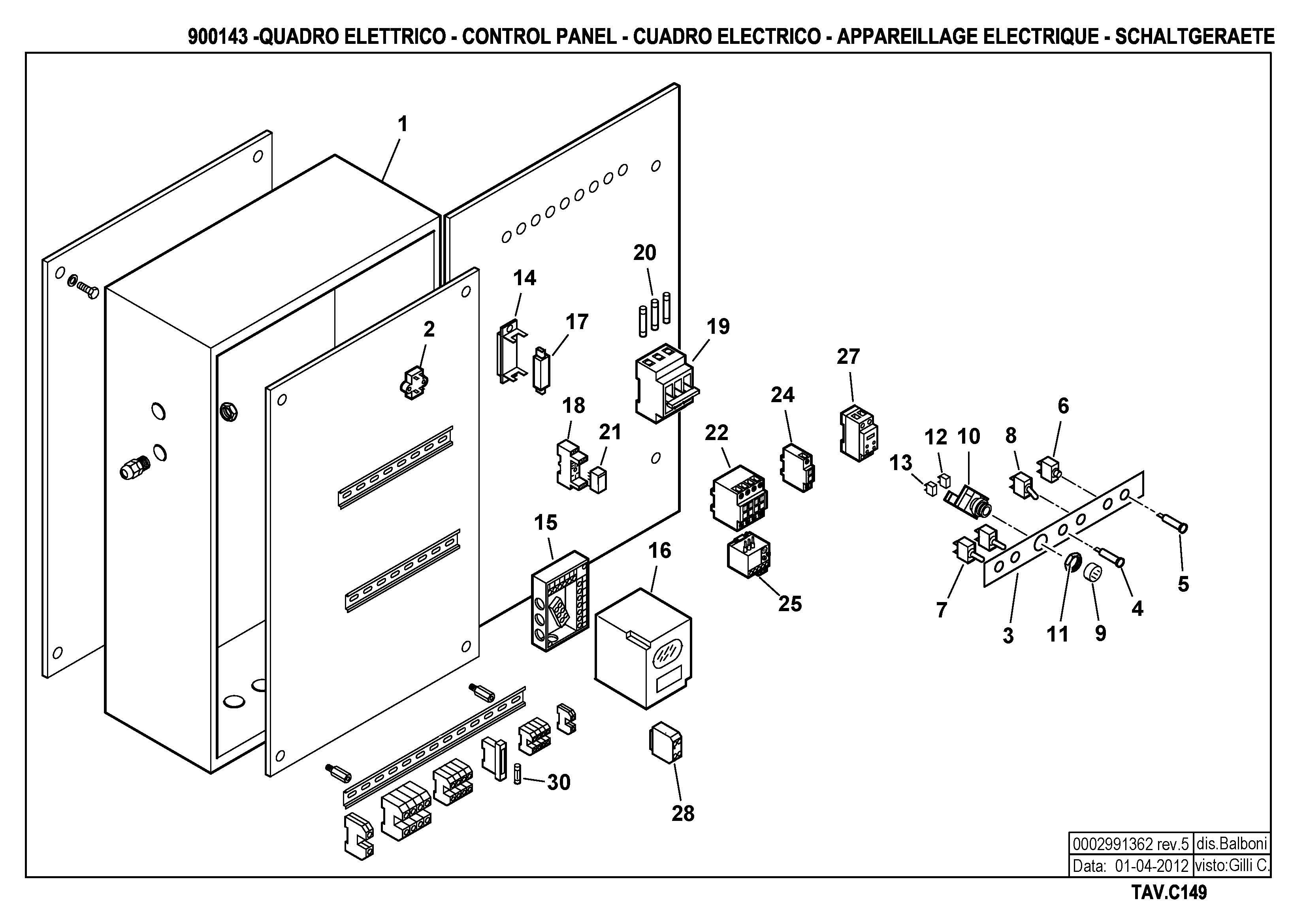 Панель управления C149 900143 5 20120401