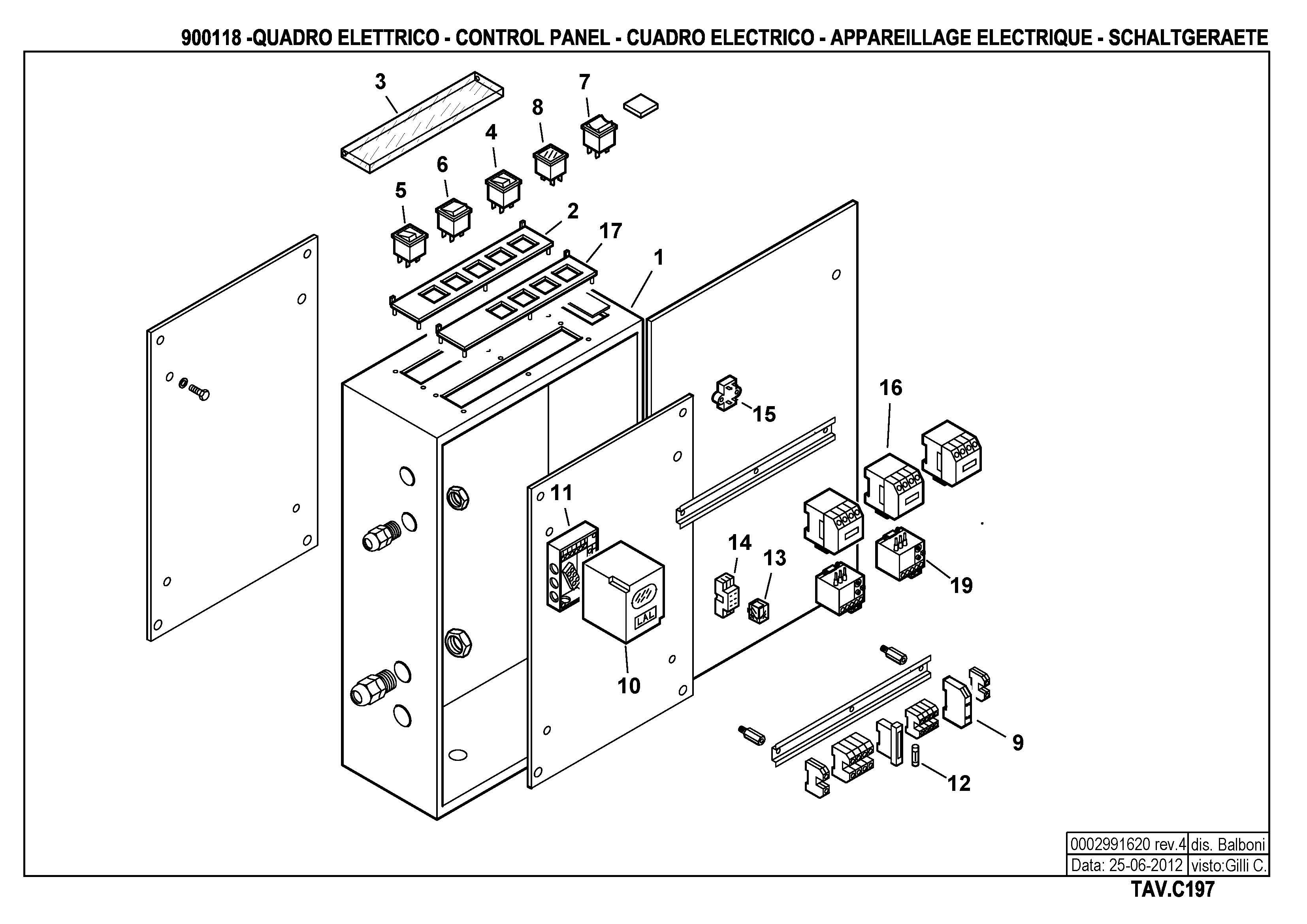 Панель управления C197 900118 4 20120625