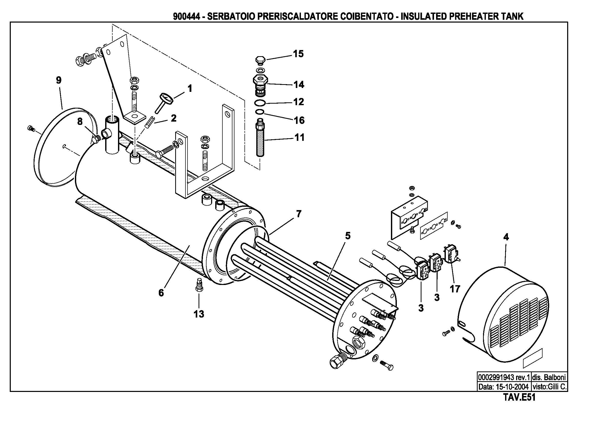 Подогреватель жидкого топлива E51 900444 1 20041015