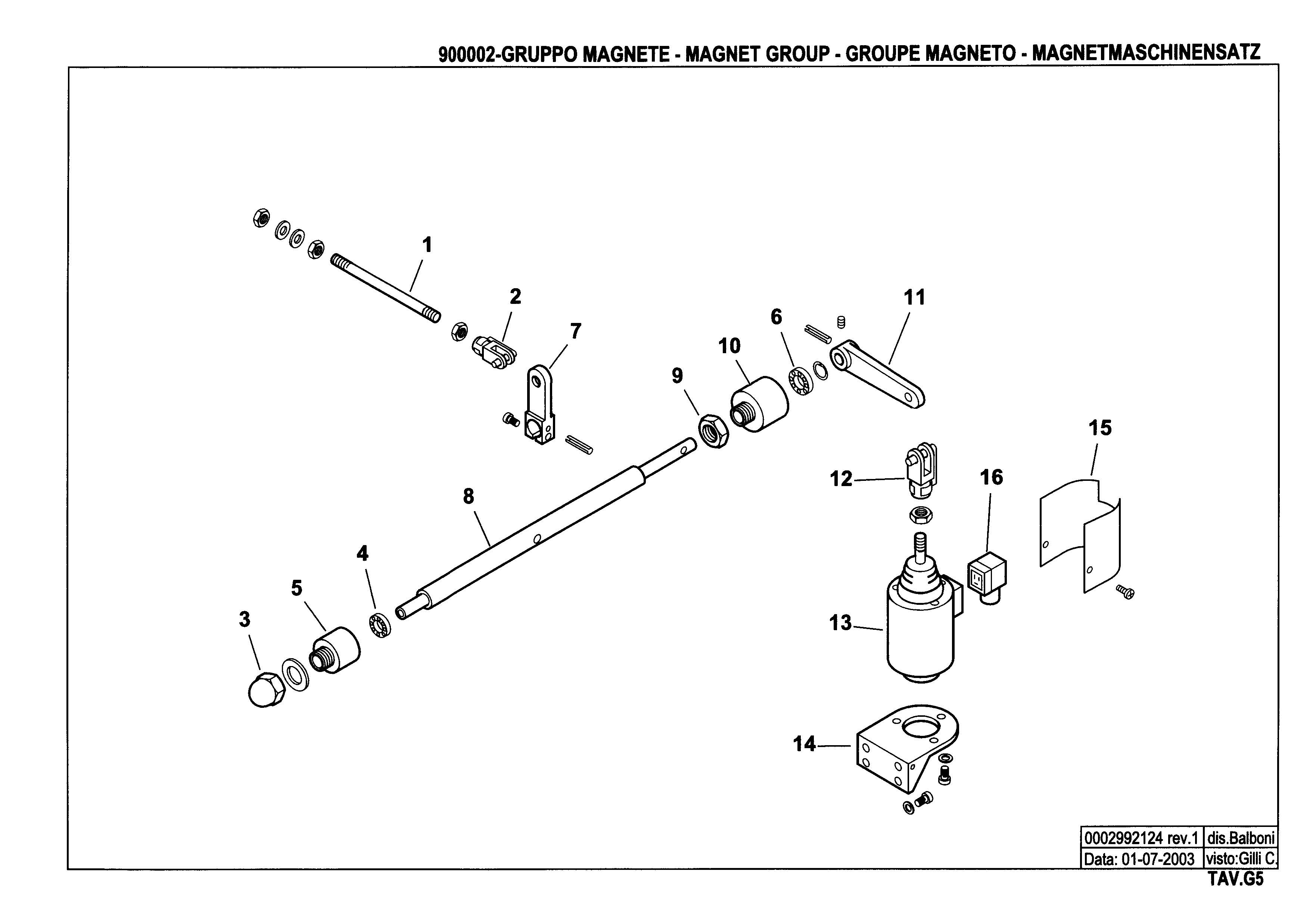 Электромагнитный привод узла распыливания G5 900002 1 20030701
