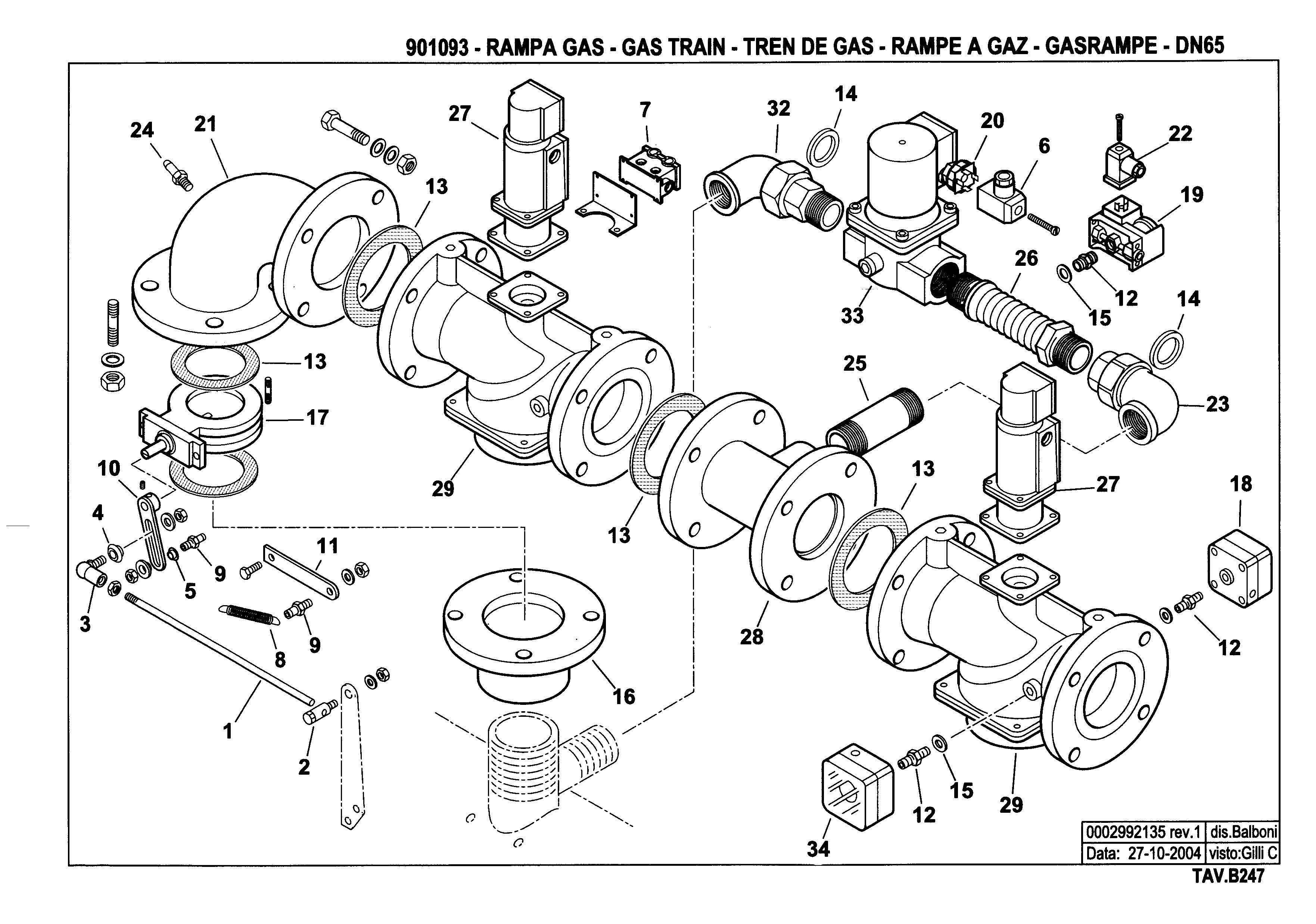 Газовая рампа B247 901093 1 20041027