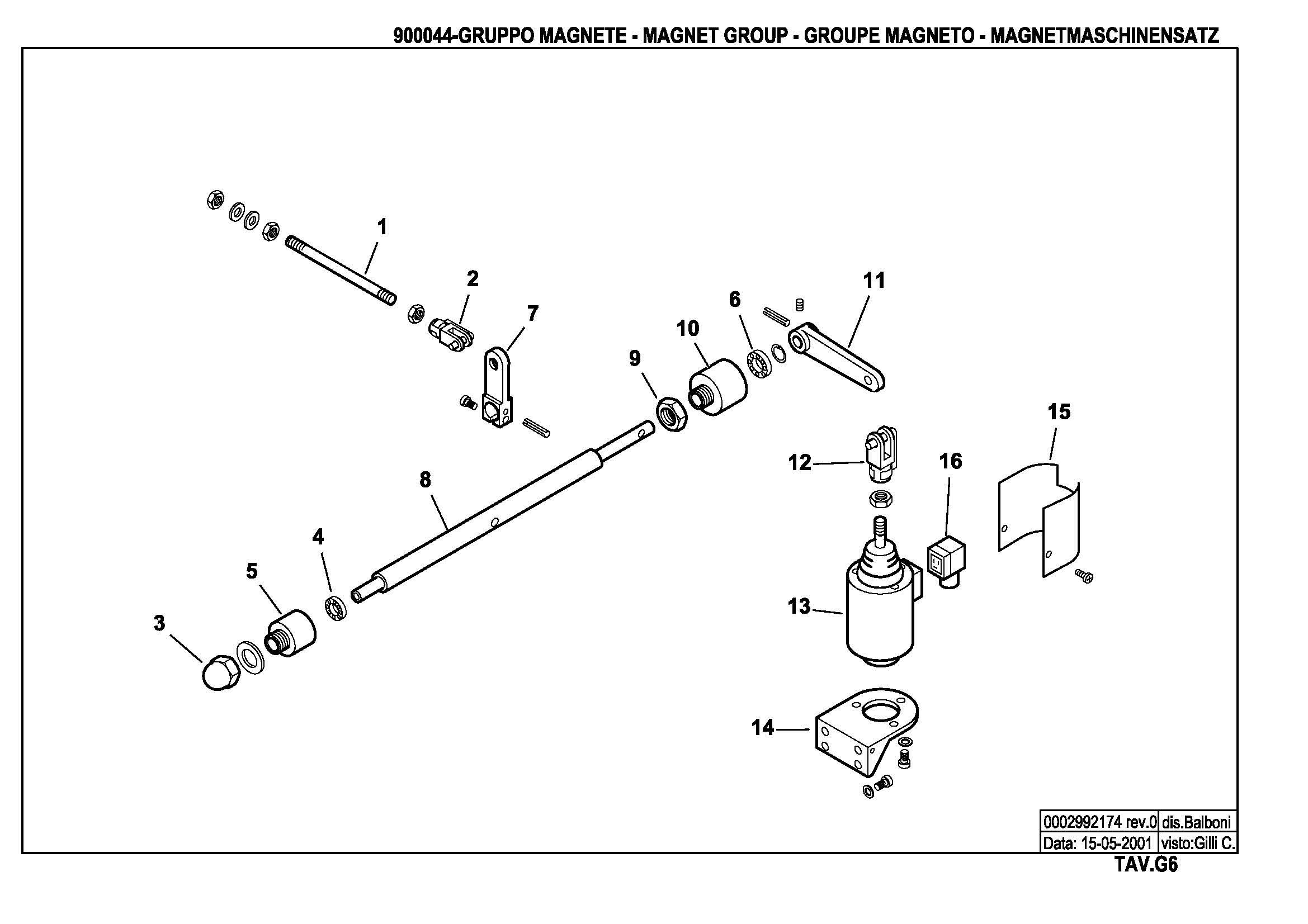 Электромагнитный привод узла распыливания G6 900044 0 20010515