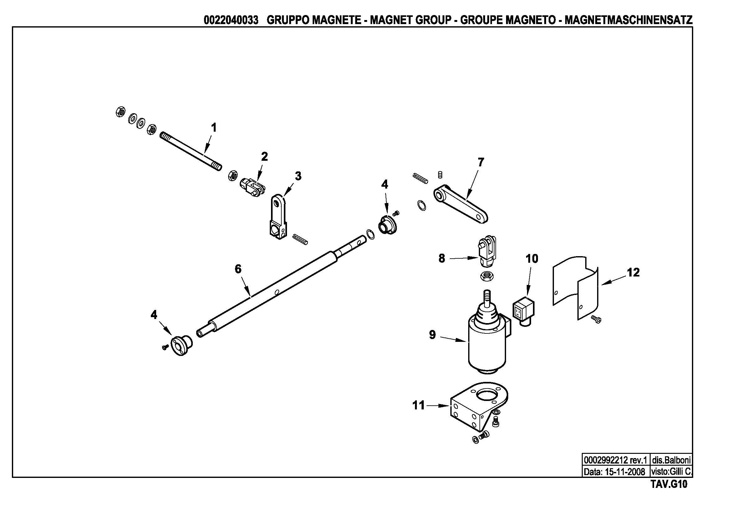 Электромагнитный привод узла распыливания G10 22040033 1 20081115