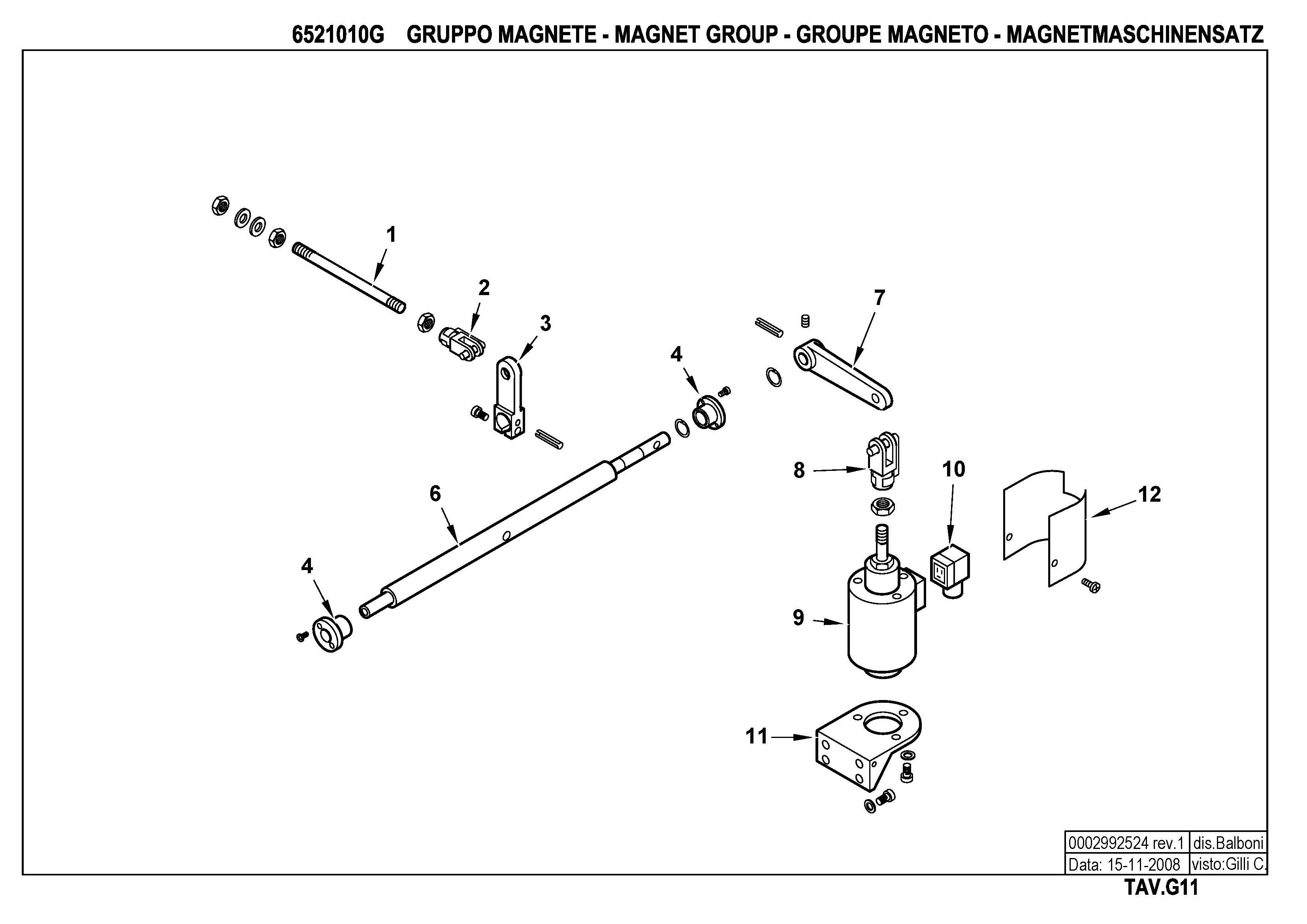 Электромагнитный привод узла распыливания G11 6521010 1 20081115