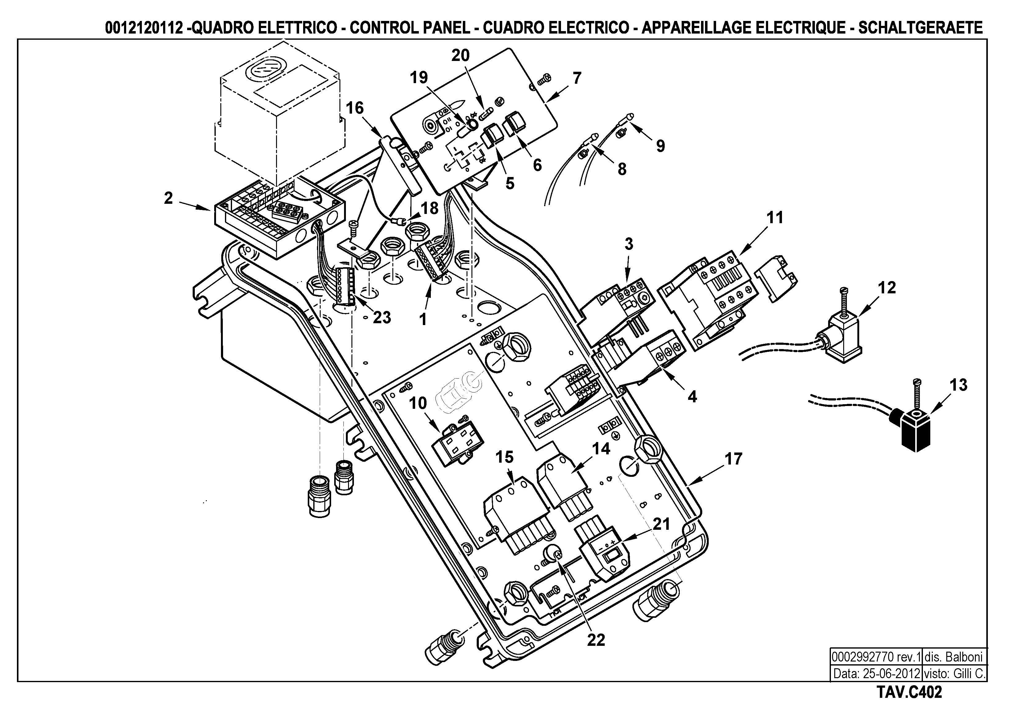 Панель управления C402 12120112 1 20120625