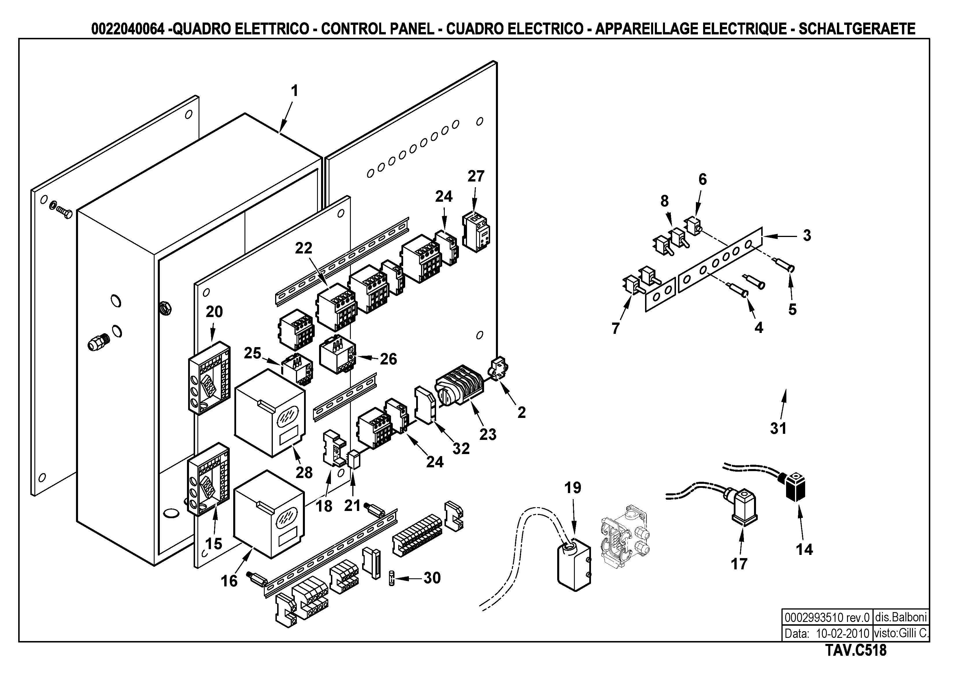 Панель управления C518 22040064 0 20100210