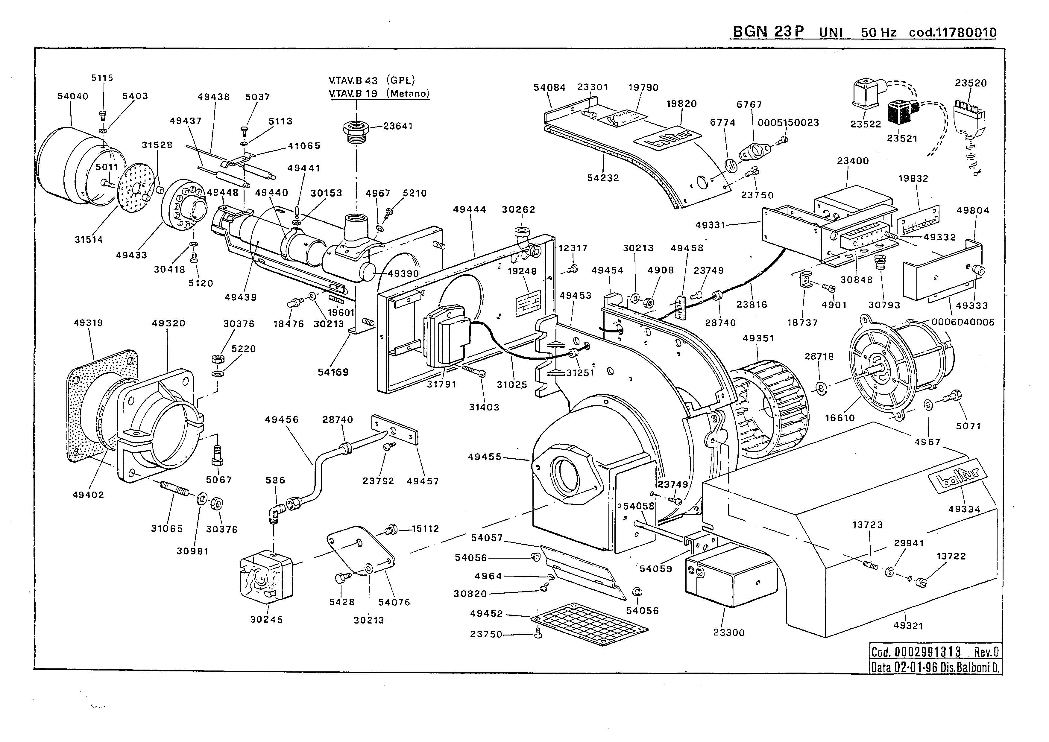 BGN 23 P UNI 11780010 0 19960102