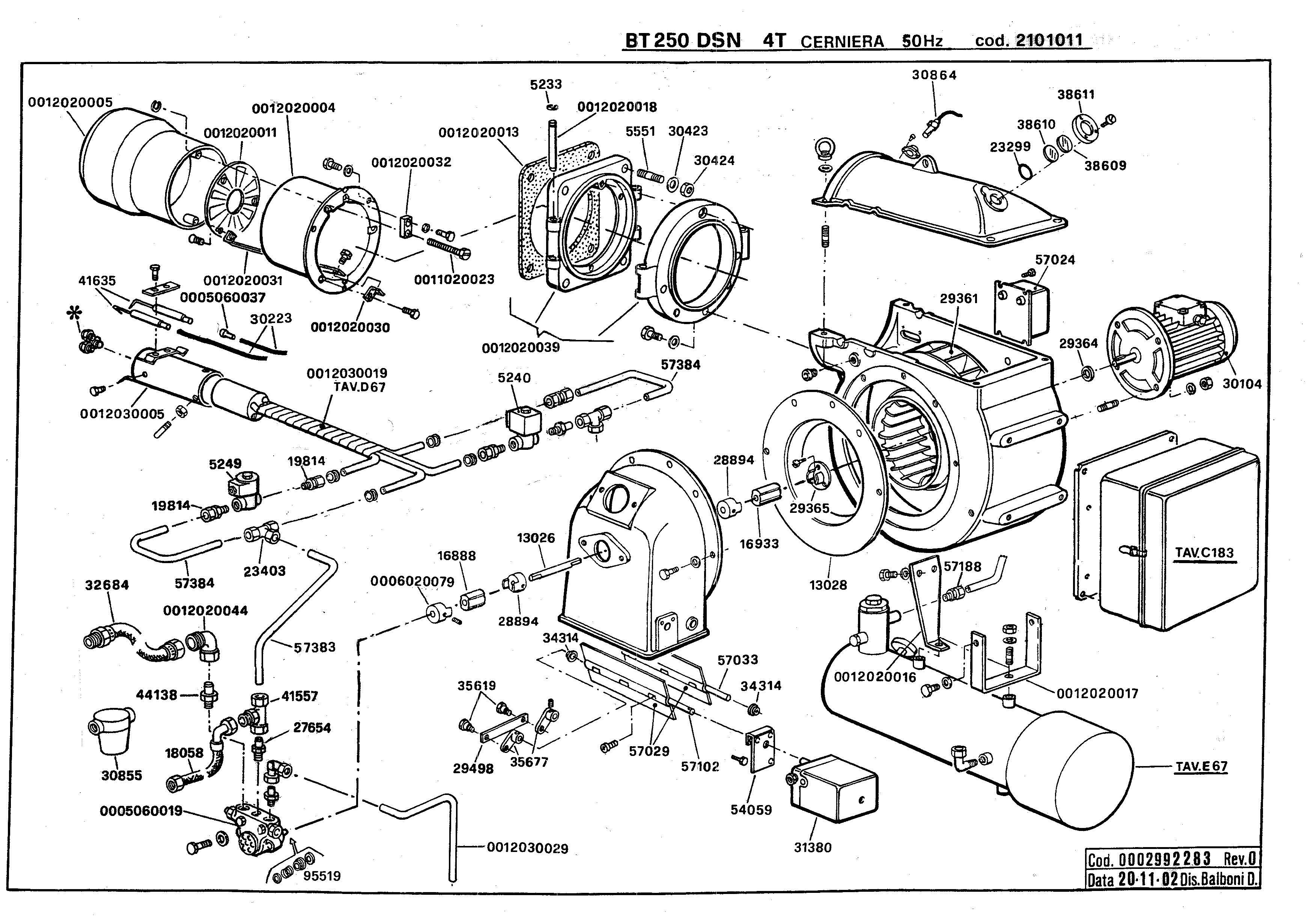 BT 250 DSN 4T Cerniera 2101011 0 20021120