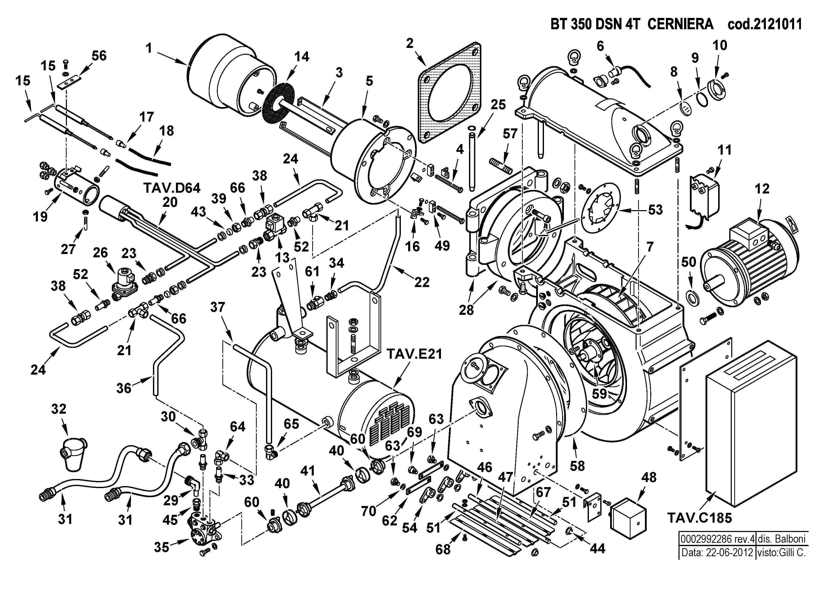 BT 350 DSN 4T Cerniera 2121011 4 20120622