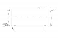 Бак питательной воды (горизонтальный) - FW
