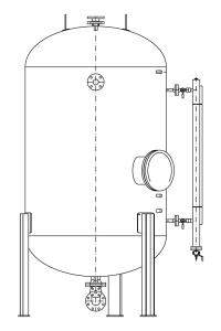 Бак расширительный диатермического масла - VES
